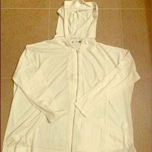 Cabi White beachcomber hoodie